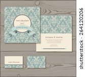 wedding invitation  save the... | Shutterstock .eps vector #264120206