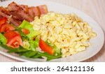 Scrambled Eggs With Bacon And...