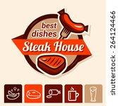 set of badge  label  logo ... | Shutterstock .eps vector #264124466