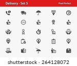 delivery icons. professional ... | Shutterstock .eps vector #264128072