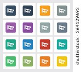 very useful flat icon of... | Shutterstock .eps vector #264129692