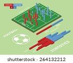flat elements of football match ... | Shutterstock .eps vector #264132212