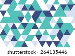 green and blue geometric... | Shutterstock .eps vector #264135446