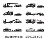 emergency situations on road  ... | Shutterstock .eps vector #264135608