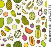 tropical fruits seamless... | Shutterstock .eps vector #264137576