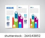 modern vector three fold... | Shutterstock .eps vector #264143852