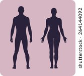 full length front human... | Shutterstock .eps vector #264144092