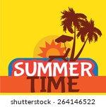 summer time vector silhouette | Shutterstock .eps vector #264146522