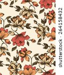 seamless floral pattern.... | Shutterstock .eps vector #264158432