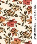 seamless floral pattern.... | Shutterstock .eps vector #264158432