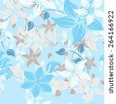 seamples flower illustration ... | Shutterstock .eps vector #264166922