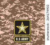 beige army camouflage...   Shutterstock .eps vector #264174902