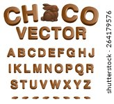 choco vector  abc   numbers and ... | Shutterstock .eps vector #264179576