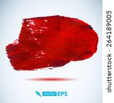 vector acrylic red ink spot. ... | Shutterstock .eps vector #264189005