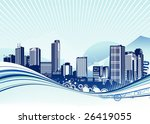 vector illustration of big city.... | Shutterstock .eps vector #26419055
