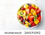 bowl of healthy fresh fruit... | Shutterstock . vector #264191042