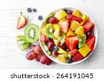 Bowl Of Healthy Fresh Fruit...