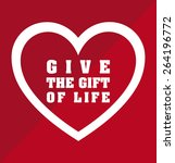 donate blood design  vector... | Shutterstock .eps vector #264196772
