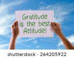 gratitude is the best attitude... | Shutterstock . vector #264205922