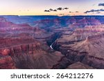 grand canyon at sunset  ... | Shutterstock . vector #264212276