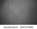 silver metal mesh with round...