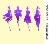 fashion models silhouettes