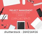 flat modern design concept for... | Shutterstock .eps vector #264216416