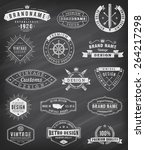 collection of fifteen vintage... | Shutterstock .eps vector #264217298