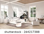 bright white luxury rendered... | Shutterstock . vector #264217388