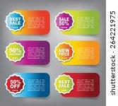 web sale banner   Shutterstock .eps vector #264221975