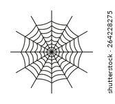 the spiderweb icon. web symbol. ... | Shutterstock .eps vector #264228275
