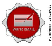 email circular icon on white... | Shutterstock . vector #264229118