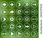 set of flat arrow icons for...