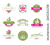 spring sale retro icon... | Shutterstock . vector #264231158