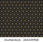 seamless neon orange isometric... | Shutterstock . vector #264234968