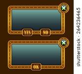game steampunk menu interface...