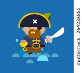 web flat pirate illustration