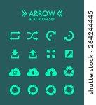 vector flat icon set   arrow