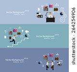vector illustration of teamwork ... | Shutterstock .eps vector #264254906
