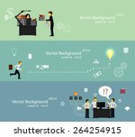 vector illustration of teamwork ... | Shutterstock .eps vector #264254915