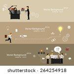vector illustration of teamwork ... | Shutterstock .eps vector #264254918