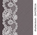 lace ribbon seamless pattern. | Shutterstock .eps vector #264258116