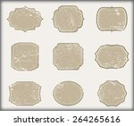 grunge labels.vintage badges... | Shutterstock .eps vector #264265616