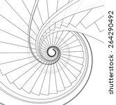 Spiral Staircase Vector 09