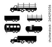 set of transport black icons....   Shutterstock .eps vector #264291056