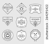 vintage logo set  retro design... | Shutterstock .eps vector #264291422