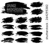 set of black ink vector stains   Shutterstock .eps vector #264295382