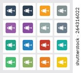 very useful flat icon of fish...