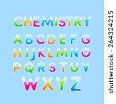 test tubes   chemistry alphabet ... | Shutterstock .eps vector #264324215