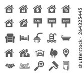 real estate icons | Shutterstock .eps vector #264325445